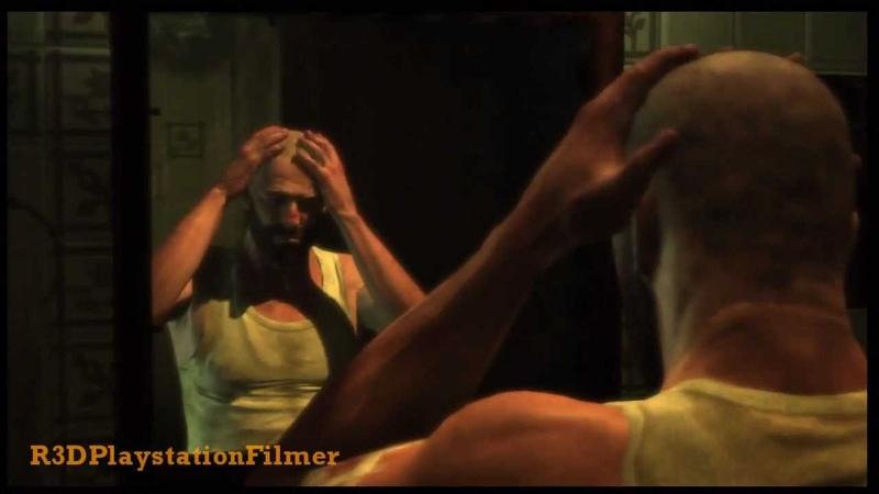 Max Payne 3 Max Shaves His Head Cutscene