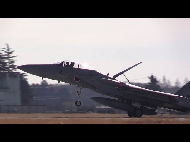 F-15J Eagle JASDF Hyakuri Airbase 305sq Landing 航空自衛隊百里基地