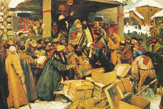 Сергей Иванов «Во время раскола», 1909 год