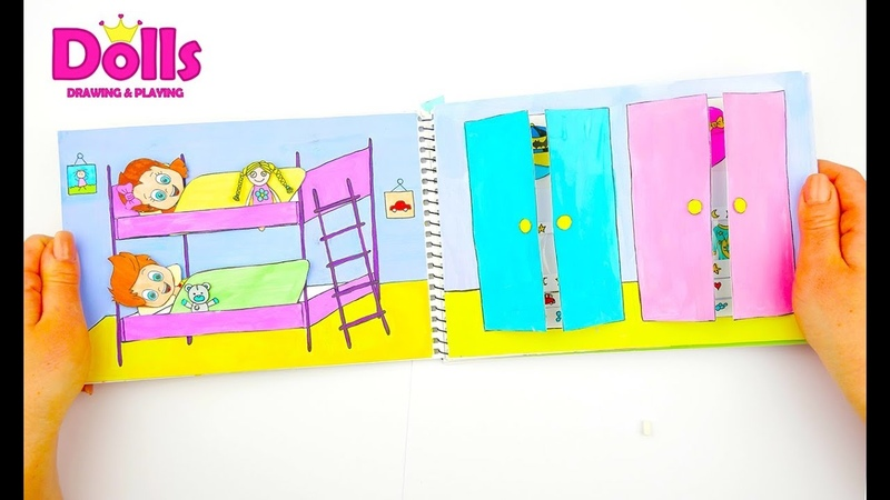DOLLHOUSE FOR TWINS BABY QUIET BOOK BATHROOM PAPERCRAFTS FOR KIDS