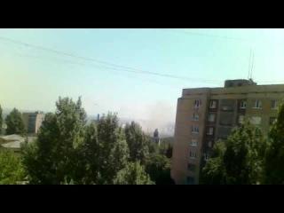 Славянск  в 11:52 разбомбили центр города