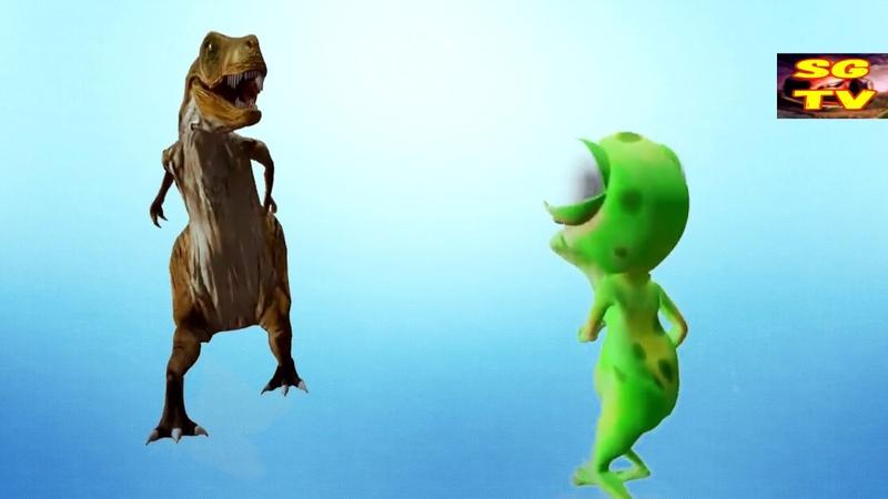 Танец Обезьяны песня Dance Monkey динозавр и лягушка