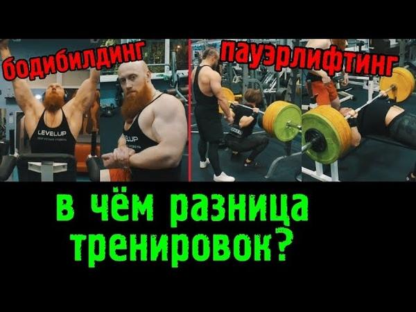 Тренировка бодибилдера и пауэрлифтера В чём разница