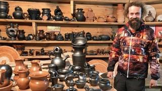 🍯 Разгрузка печи Чёрный обжиг Обучение гончарству Волшебство керамики