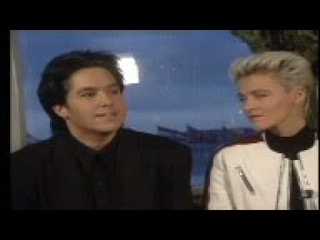 Interview with Per Gessle, Marie Fredriksson; band performing