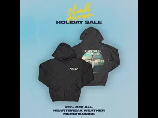 One last day to get your Heartbreak Weather merch while its still on sale ! Must say it makes an excellent gift