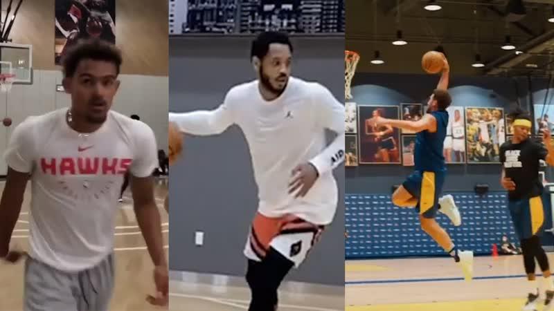 Тренировки игроков НБА в межсезонье 2020