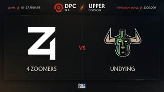 4 Zoomers vs Undying, Dota Pro Circuit 2021: S1 - NA, bo3, game 3 [Leх & Adekvat]