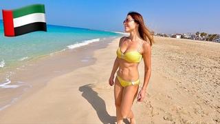 ДУБАЙ 2021 МОРЕ ЗИМОЙ 🇦🇪 Людей нет! Купаемся и загораем на общественном пляже Дубая Kite Beach.