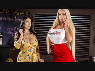 Angela White, Nicolette Shea  Caught Talking Dirty Brazzers. HD1080, Big Ass, Big Tits, Threesome