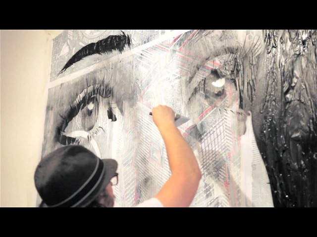 REKA, RONE TWOONE PAINTING AT METRO GALLERY