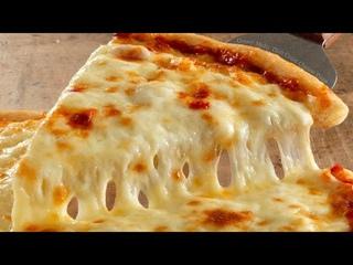 #пицца #четыресыра #пепперони  Итальянская Пицца на тонком тесте.Italian pizza. 피자 #먹방