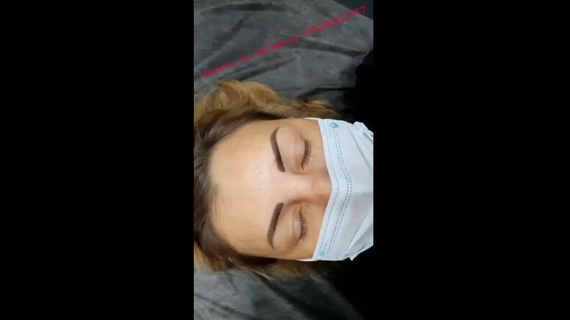 бровки после первой процедуры