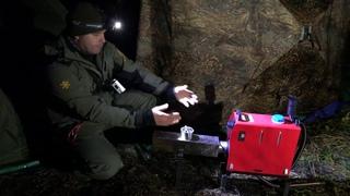 Едем на Налима. Испытание дизельной печки в зимней палатке БЕРЕГ. Рыбалка с двумя ночёвками.