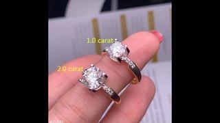 Мужское и женское кольцо kjjeaxcmy, ювелирное изделие из серебра 1,0 2,0 карат, ювелирные изделия