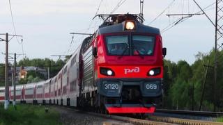 Электровоз ЭП20-069 с поездом№741В Москва-Брянск перегон Нара-Латышская