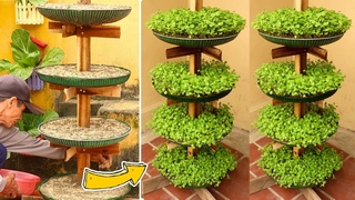 Brilliant Idea | Recycling FAN Cages into Vertical Vegetable Tower at Home