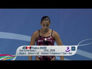 Diving women's 3m springboard final singapore 2010 youth games
