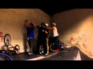 Backflip Billy Lands the World's First ever Backflip QUADRUPLE Barspin at The Factory SLOW MO BMX