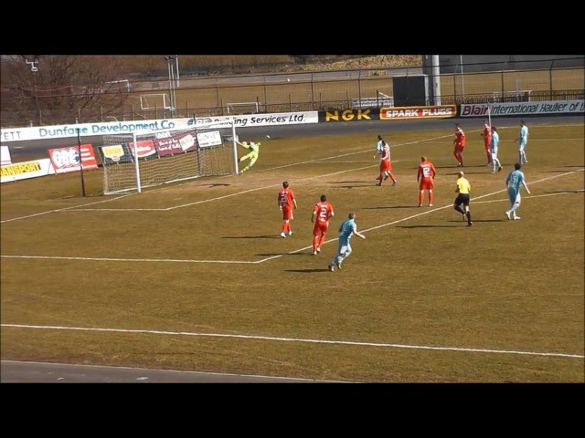 David Cushley's second goal vs Portadown 2 4 13