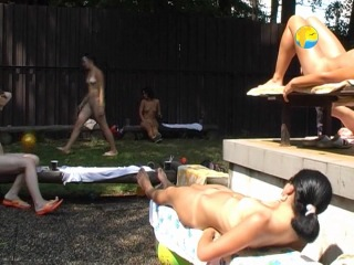 Naturist Freedom. Girlfriends Together