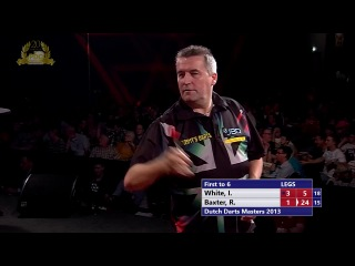 Ian White vs Ronnie Baxter (Dutch Darts Masters 2013 / Second Round)