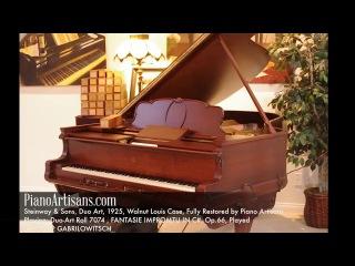 Chopin Fantasie Impromtu in C Played by Ossip Gabrilowitsch piano roll 1925