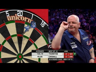 Robert Thornton vs Dave Chisnall (2014 Premier League Darts / Week 13)