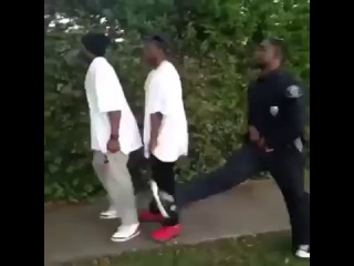 Thugs can never run from the cops b/c their pants always sagged