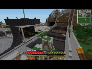s1e05 Постройка Стимпанк города в Minecraft Industrial!