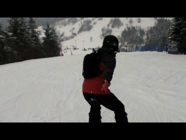 Kak ja bratishku uchil ezdit' na snowboarde