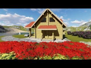 Дом Ленинградский 10,5х11,85 155 м.кв. канадская рубка со вторым светом, террасой
