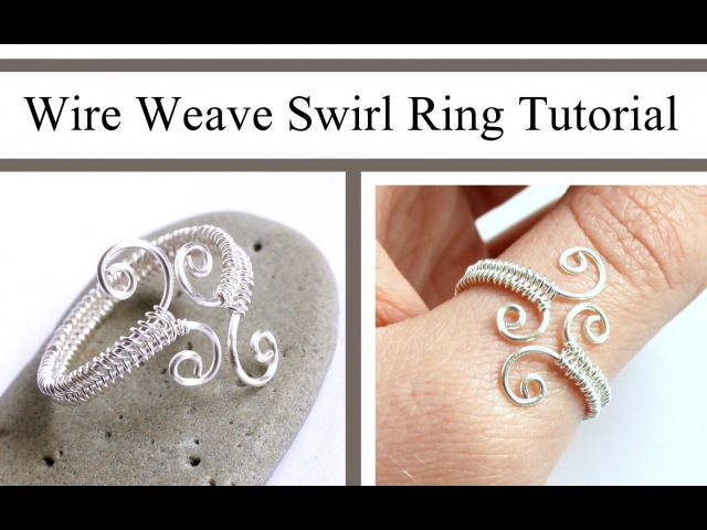Wire Weaving Jewelry Tutorial Adjustable Swirl Ring Wire Wrapped