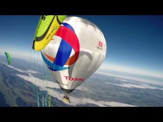 Extreme paragliding D-Bag at 6000m, Switzerland 2014
