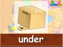 In, under, on, Prepositions of Place, English Lesson for Children, Pre-K K