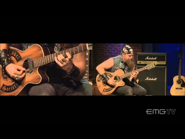 Zakk Wylde unbelievable acoustic guitar shred on EMGtv