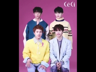 180127 Ceci Instagram post with Hwall, Haknyeon, Eric, and Sunwoo.