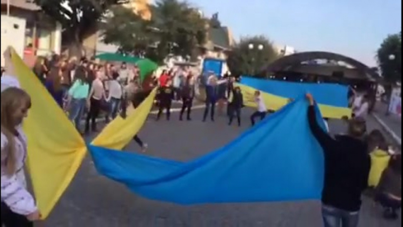 флешмоб 14 10 2015 Кам'янчани за Мир Частина 2 смотреть онлайн без регистрации