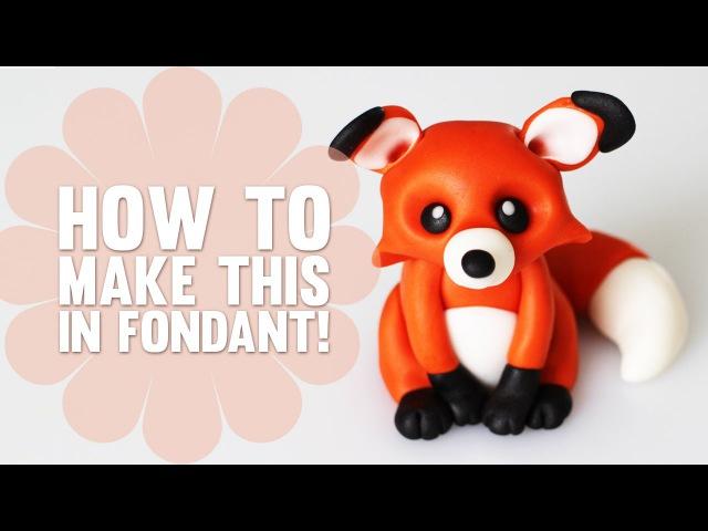 Super Speed Video How to create a cute little Fox Cake Topper