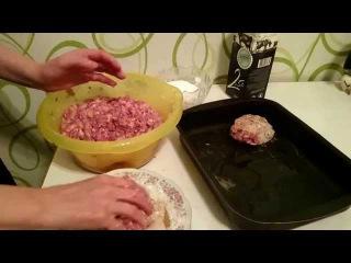 Как приготовить Котлеты фарша с грибами в духовке Рецепт пошагово ужин домашние классический вкусно