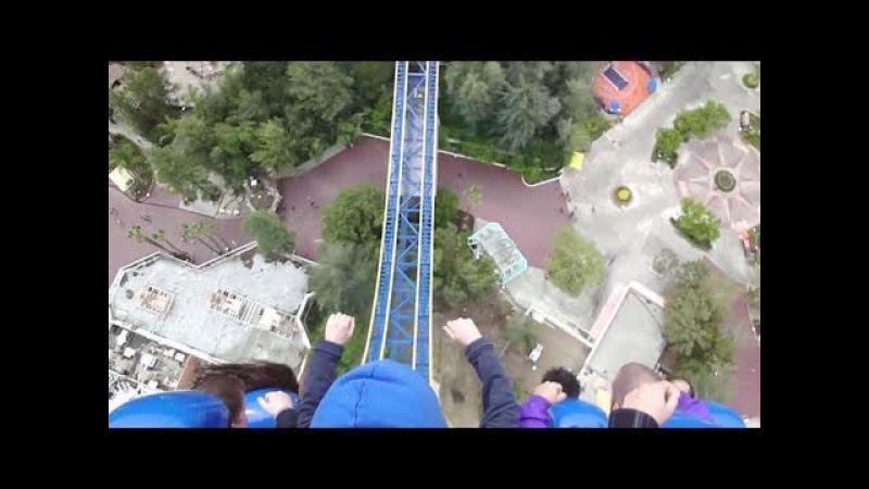 Superman Escape from Krypton (HD POV) Six Flags Magic Mountain
