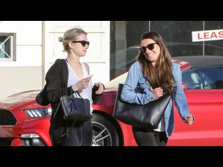 Lea Michele Gets A Lift From Emma Roberts After Lunch In Beverly Hills