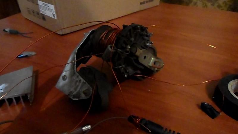 Простое подключение строчника на одном транзисторе