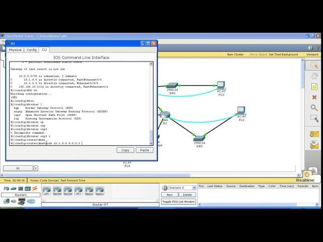 Курс Cisco Routing and Switching Шаг 7 Динамическая маршрутизация настройка протокола OSPF