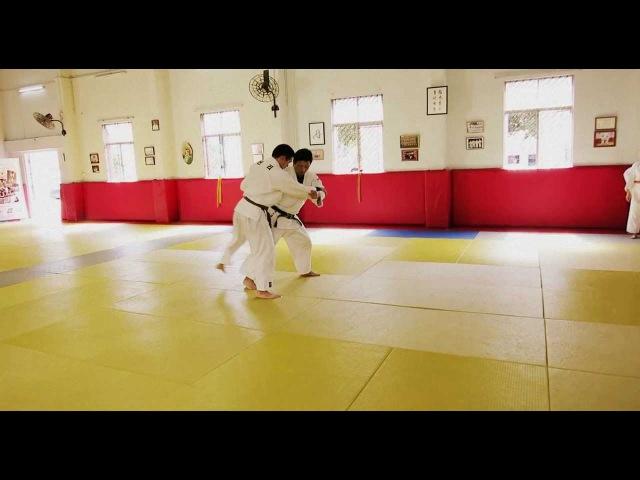 Judo Legend Jeon Ki Young Ouchi gari Tai otoshi Combination HD
