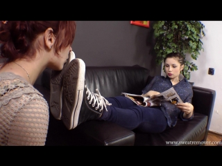 — Sneakers and socks foot worship pt.1 (foot fetish, femdom, фут фетиш, лездом, фемдом)