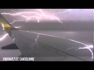Terrified Plane Passenger captures dramatic footage of Lightning Striking aircraft