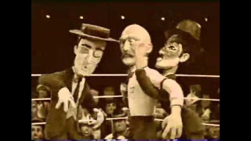 Celebrity Deathmatch Buster Keaton vs Charlie Chaplin