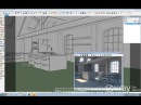 Altercad - SketchUp Настройка дневного освещения для интерьерной сцены.
