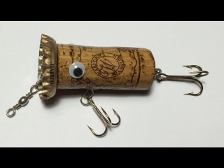 How To Make Topwater Lure From Wine Cork(4)DIY Fishing Hacks - Cch Lm Lure Nt Chai